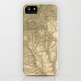 Vintage Map of Montana (1881) iPhone Case