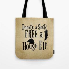 Donate a Sock FREE a House Elf Tote Bag