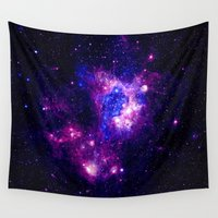 nebula Wall Tapestries featuring nebulA. by 2sweet4words Designs