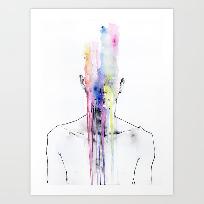 Discover the motif ALL MY ART IS ON YOU BUT YOU STILL DON'T HEAR ME by Agnes Cecile as a print at TOPPOSTER