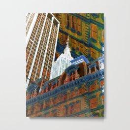 New York City Up Is Down Down Is Up Orange Metal Print