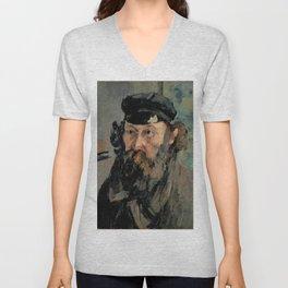 Paul Cézanne - Self-Portrait in a Casquette Unisex V-Neck