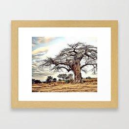 Still Standing Airbrush Artwork Framed Art Print
