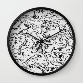 Marbled Monochrome Wall Clock