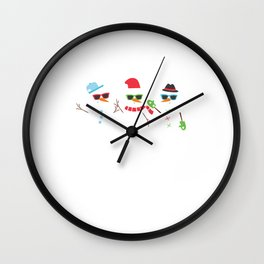 Chillin With My Snowmies Snowman Christmas Gift Wall Clock