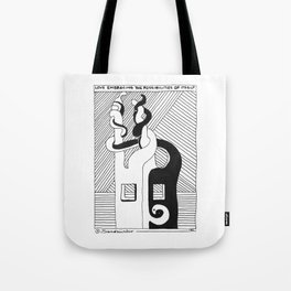 Love Embracing the Possibilities of Itself / 1991: The Booth Philosopher Series Tote Bag
