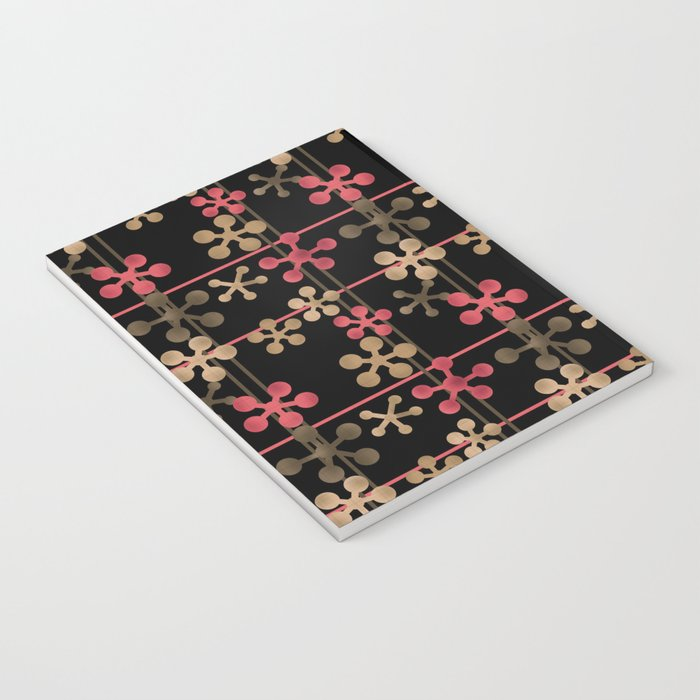 Abstract pattern in black red and brown tones . Notebook