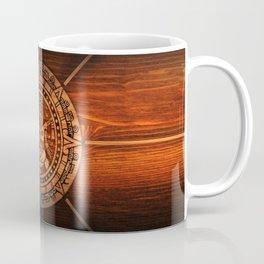 Aztec Logo On Wood Coffee Mug