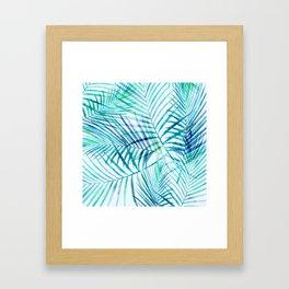 Tropical Palm Pattern Framed Art Print