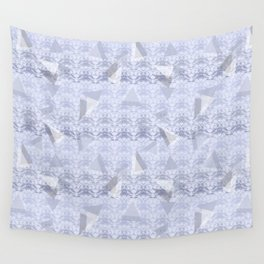 Floral Lace Collection - Blue Wall Tapestry