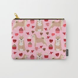 Shiba Inu dog breed love cupcakes hearts valentines day pet gifts Shiba inus Carry-All Pouch