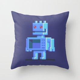Magnetron pixel robot Throw Pillow