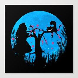 Alice In Wonderland Blue Moon Canvas Print