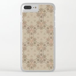 Woodstock Vibes Clear iPhone Case