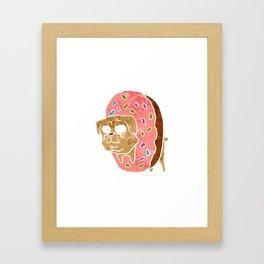 pug and donut. Framed Art Print