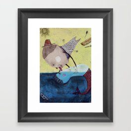 No Legs!! Framed Art Print