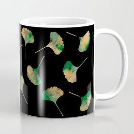 Ginkgo biloba leaves black Coffee Mug