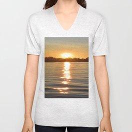 Sunset at Crystal Bay | Sunset Landscape | Ontario Canada Unisex V-Neck