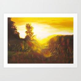 Dancing Sunset Art Print