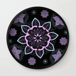 Lacy Floral  Wall Clock