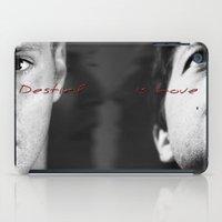 destiel iPad Cases featuring Dean/ Castiel, Destiel by Teya Ross