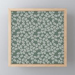 White, Petals, and Grey Framed Mini Art Print