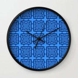 Big Blue Granny Squares Patchwork Wall Clock