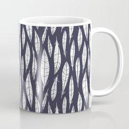 Quail Feathers (Midnight) Coffee Mug