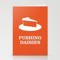 pushing daisies Stationery Cards featuring Pushing Daisies by MacGuffin Designs