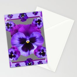 LILAC PURPLE PANSIES GARDEN Stationery Cards