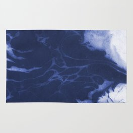 Amio - spilled ink shop watercolor marble marbling japanese printmaking modern abstract design Rug