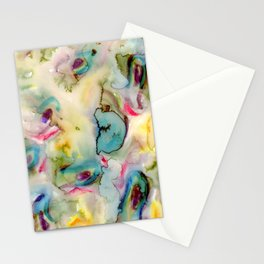 green absstract Stationery Cards