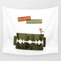 runner Wall Tapestries featuring Blade Runner by Marta Colomer