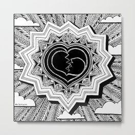 Heartshine Metal Print