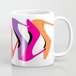 Colorful high heel shoes graphic illustration Coffee Mug