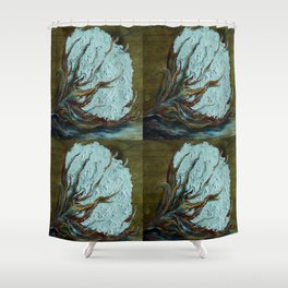Four Square Cotton Shower Curtain