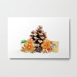 Ginger cookies Metal Print