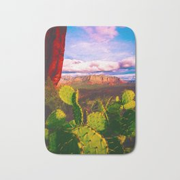 Cacti with a View (Cathedral Rock) Bath Mat
