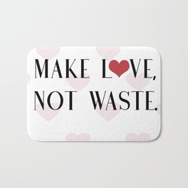 Make Love, Not Waste with a Red Heart Bath Mat