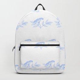 Elderflower In Blue Minimalist Nature Backpack