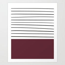MARINERAS MAROON Art Print