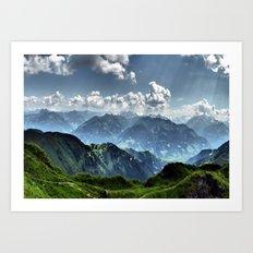 Mountain Peaks in Austria Art Print