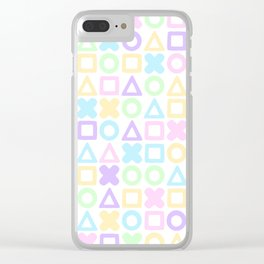 A weird game of pastel tic tac toe Clear iPhone Case