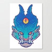 foo fighters Canvas Prints featuring Blue Foo by missmonster