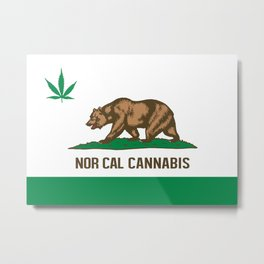 Nor Cal Cannabis Metal Print