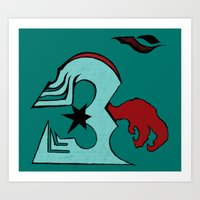 infamous Art Prints featuring inFamous ohm by iRa.