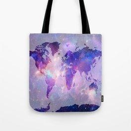 world map galaxy Tote Bag