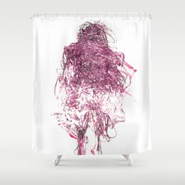 Pink Person Shower Curtain