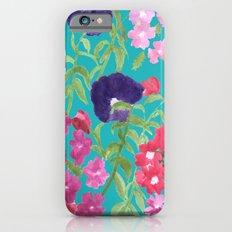 Blue Floral Print iPhone 6s Slim Case