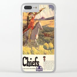 Vintage poster - The Chiefs Clear iPhone Case